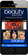 Beauty Salon Mobile Website