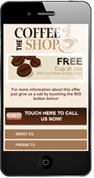 Coffee Shop Mobile Website