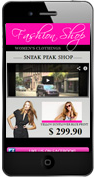 Fashion Mobile Website