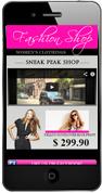 Fashion Mobile Website